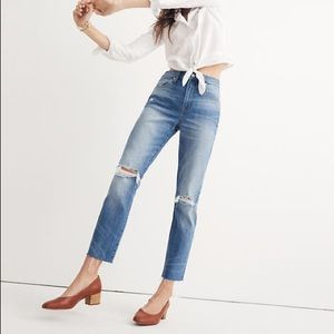 Madewell High Rise Slim Crop Boyjean
